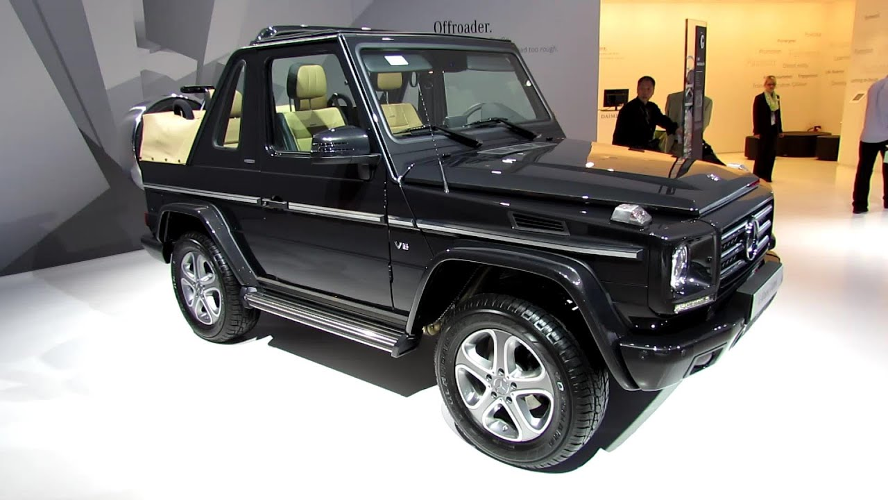2014 mercedes g class cabrio final edition exteriorinterior walkaround 2013 frankfurt motor show youtube