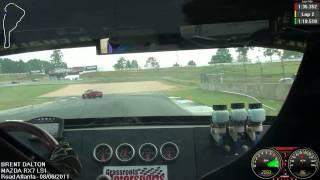 Brent Dalton in his LS1 RX7 at Road Atlanta with NASA-SE, Saturday Time Trial Warm Up