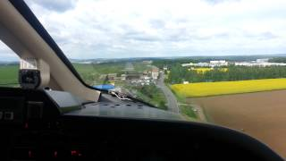 Piaggio P180 Avanti Landing at Gera-Leumnitz Germany