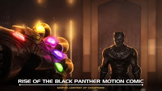 Rise of the Black Panther Motion Comic | Marvel Contest of Champions