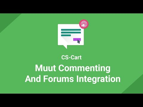 Tutorial for Muut - Commenting And Forums Integration With CS-Cart