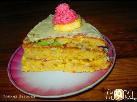 Cухарный торт  Пошаговый рецепт с фото