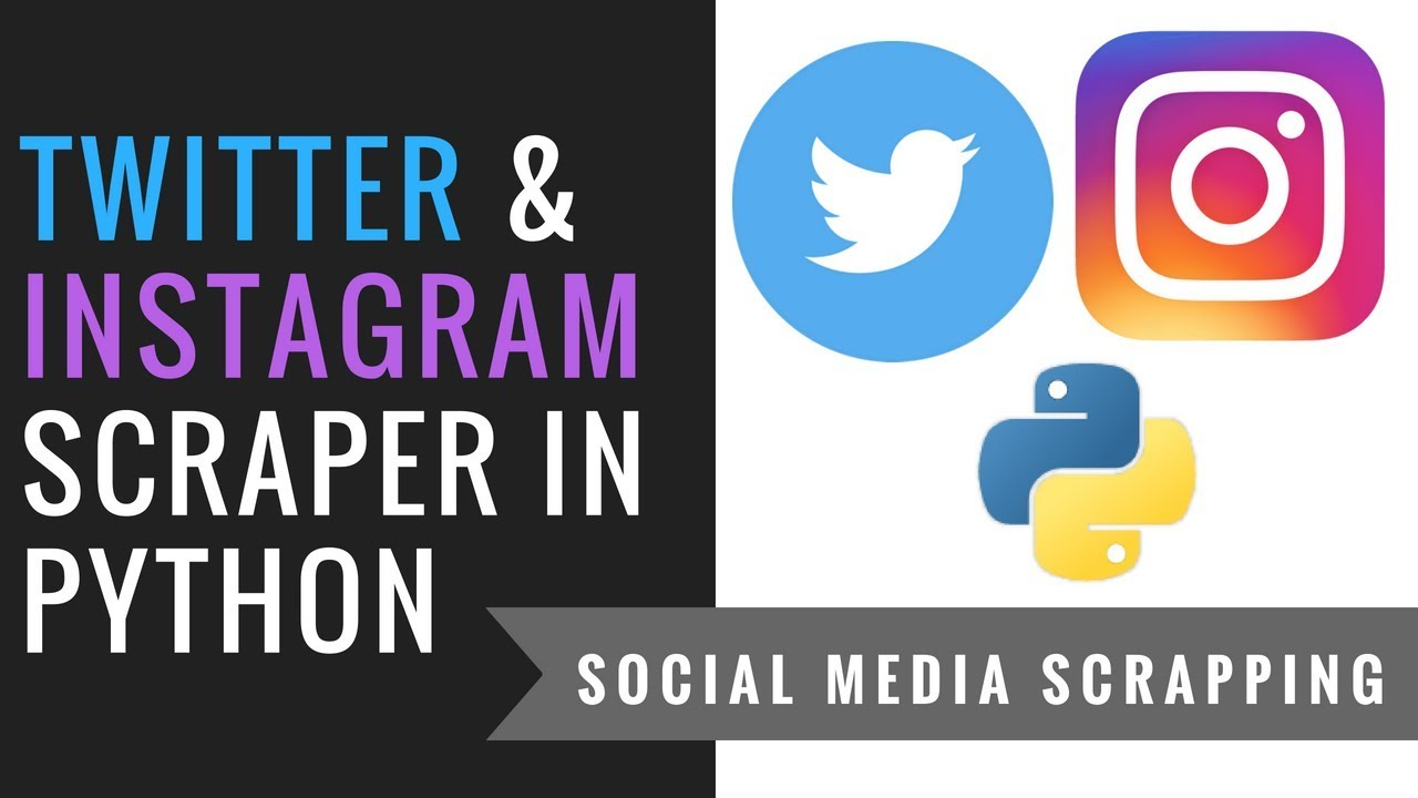 Social Media Mining & Scrapping with Python