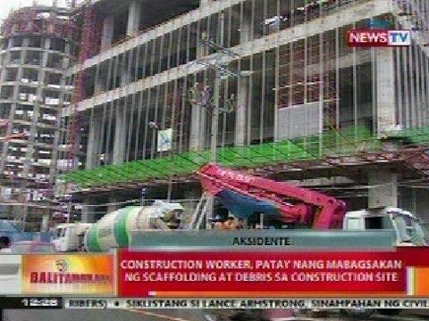 BT: Construction worker, patay nang mabagsakan ng scaffolding at debris sa QC