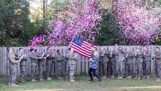 Military Widow Gets Help From Late Husband's Friends in Sweet Gender Reveal thumbnail