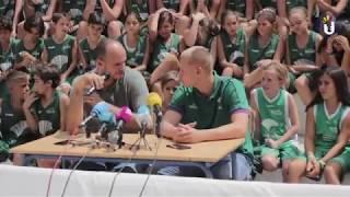 Campus Unicaja Baloncesto 2017 - T3: Presentación Sasu Salin y visita a Los Guindos