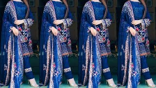 Stylish Pant Plazo Design 2018 | Punjabi Suit with Plazo | Ankle Length Straight Pant with Suits
