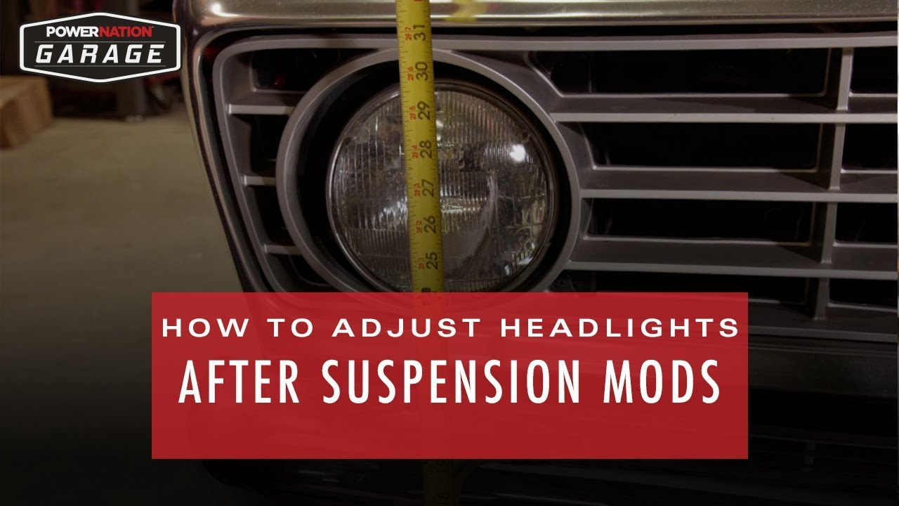 How To Adjust Headlights >> How To Adjust Headlights After Suspension Modifications