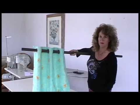 MAKING EYELET CURTAINS using eyelet heading tape - YouTube