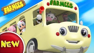 Wheels On The Bus Go Round And Round  Nursery Rhymes For Kids  Children Songs by Farmees