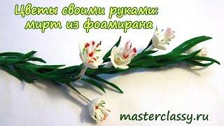 Цветы своими руками: мирт из фоамирана. Подробный видео урок