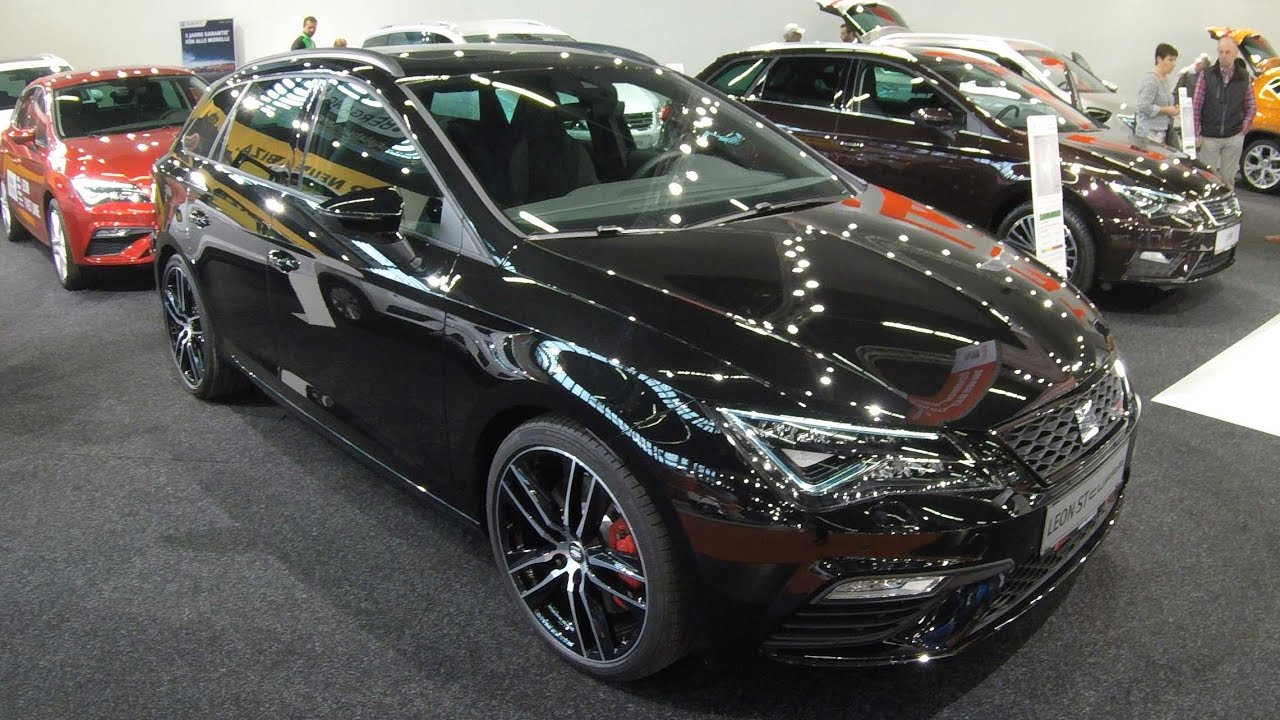 seat leon st cupra 300 night black colour walkaround. Black Bedroom Furniture Sets. Home Design Ideas