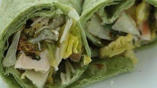 How to Make Grilled Chicken Caesar Salad Wraps