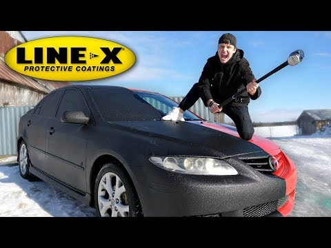 I SPRAYED MY ENTIRE CAR WITH LINE-X!! (LINE-X CAR EXPERIMENT)