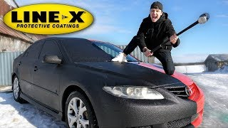 Download I SPRAYED MY ENTIRE CAR WITH LINE-X!! (LINE-X CAR EXPERIMENT) Mp3 and Videos