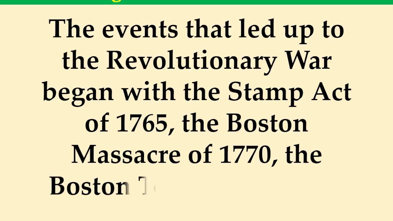 Interesting American Revolution Facts YouTube - American revolution facts