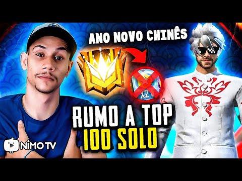 🔴FREE FIRE AO VIVO🔴DESAFIANTE SOLO RUMO AO TOP 100 SEM CARTÃO🔥EVENTO ANO NOVO CHINÊS  🔥#340K