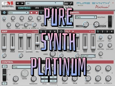 PURE SYNTH PLATINUM by Gospel Musicians - Standalone & AUv3 Mega Synth - iPad Demo