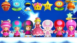 New Super Luigi U - All Toadette Power-Ups