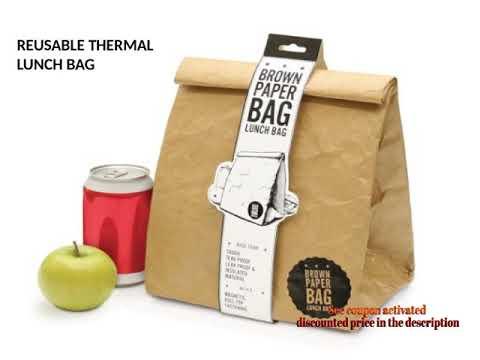 Luckies of London Ltd USLUKBRW LUD9W Paper Lunch Bag Brown