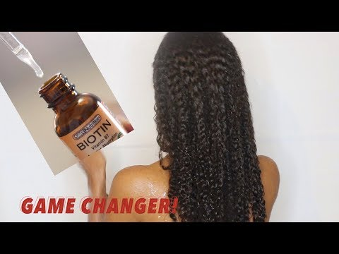 How to Grow Hair Fast! LIQUID BIOTIN for Rapid Hair Growth and Less Shedding! Natural Hair