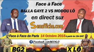 Face à face Balla Gaye 2 Vs Modou Lô en direct sur...