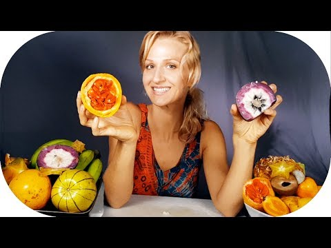 ASMR Eating EXOTIC Fruit of Costa Rica  ➤ Cutting, Peeling, Tapping