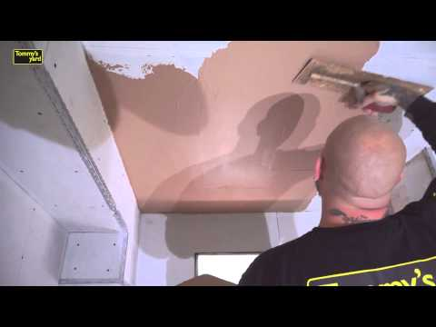 How to plaster a ceiling and wall part 1