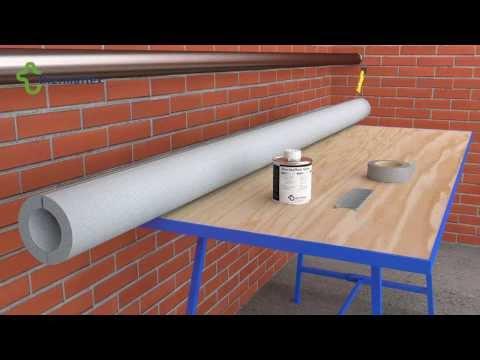 Монтаж трубной теплоизоляции Thermaflex с дополниельной фиксацией