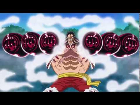 Gear 4 Luffy vs Cracker (Kong Organ Gun)  / One Piece Episode 800