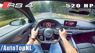 AUDI RS4 B9 2.9 TFSI 520hp Elmerhaus Custom Exhaust | POV Test Drive by AutoTopNL