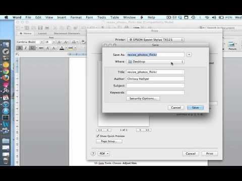 Convert Word Doc to PDF (Mac) - YouTube
