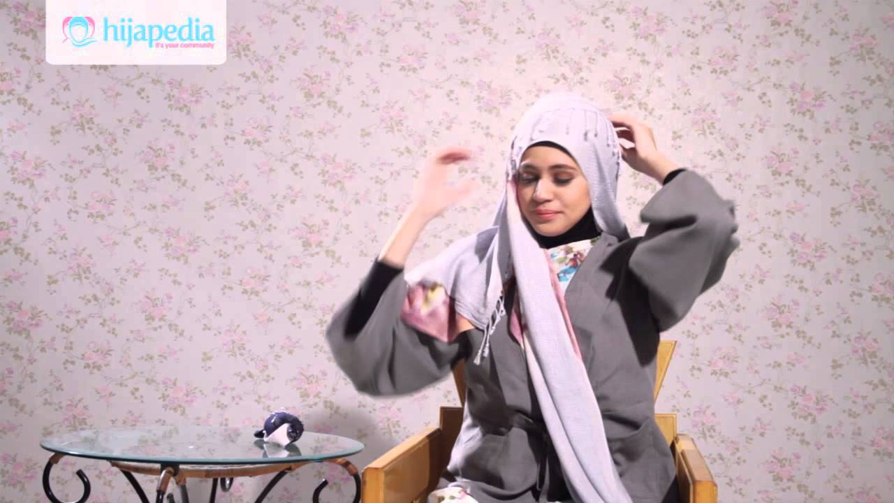 hijab tutorial pashmina rajut dian pelangi - youtube