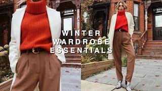 WINTER WARDROBE ESSENTIALS 2018 | Cold Winters