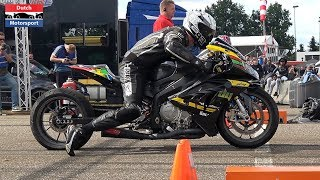 Motorcycle Drag Race! - 9 sec 1/4 Mile   GTC Rally Festival 2019