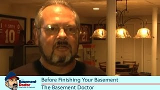Before Finishing Your Columbus Basement | Customer Review | Tips From The Basement Doctor OH