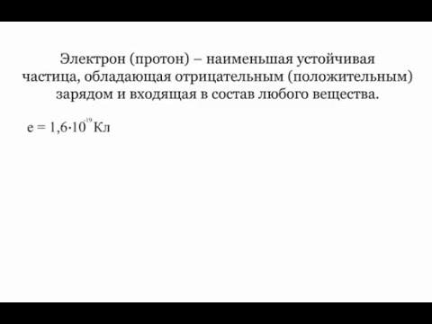 3.1.1 Электростатика. Основные понятия