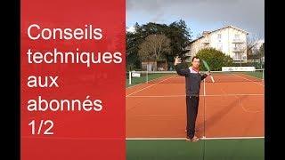 Conseils techniques tennis pour les vidéos des abonnés (1/2)