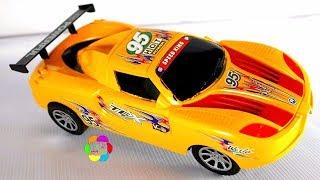 لعبة عربية السباق الجديدة للاطفال سيارةصفراء افضل العاب الشاحنات وسباقات السيارات للاولاد والبنات