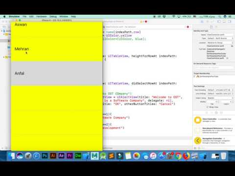 IOS App Development With Swift Tutorial 8 | AlertView & Large Size of Rows TableView in Swift thumbnail