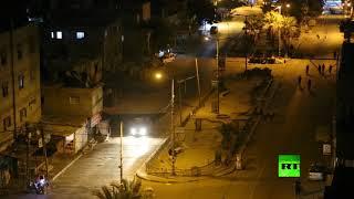 شاهد.. اللقطات الأولى لاستهداف طائرات الاحتلال عدة مواقع في غزة
