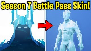 SEASON 7: NEW BATTLE PASS SKIN + SNOW MAP *FIRST LOOK* TEASED in Fortnite!