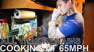 All That Remains Makes Fish w/ Avocado Rice & Spinach - COOKING AT 65MPH Ep. 28