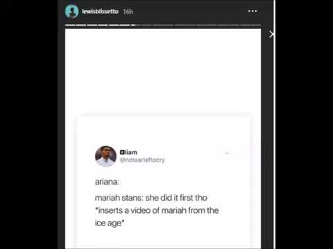 Lewis Blissett Shades Mariah Carey on Instagram