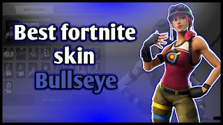 Bullseye fortnite skin Gameplay! (Skin Review) is it good or bad?