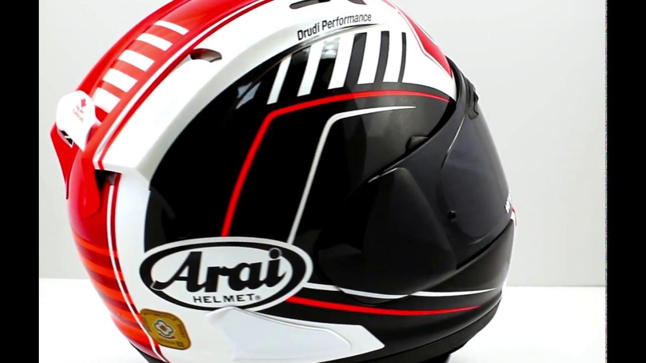 arai rx 7v rea motorcycle helmet thsvisorshop youtube. Black Bedroom Furniture Sets. Home Design Ideas