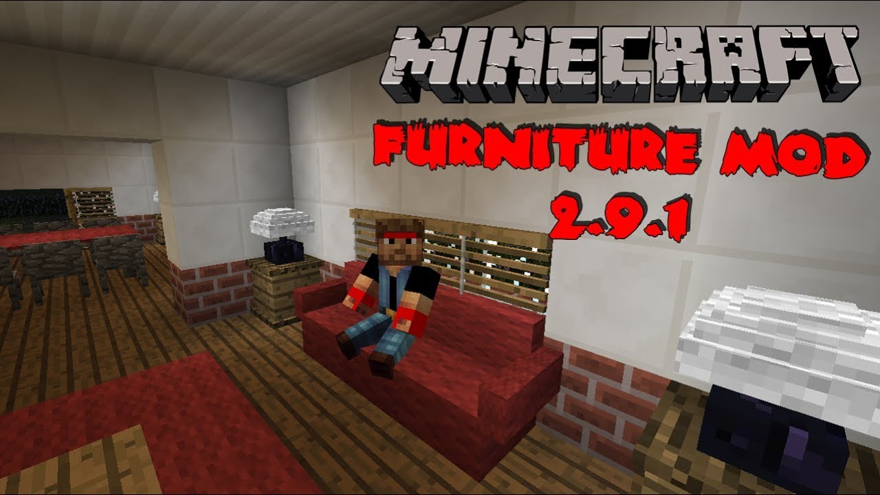 Minecraft Mods 162 Furniture Mod 291 Moveis Para Construes YouTube