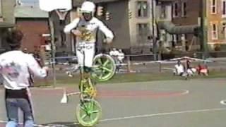 Old School BMX bike stunts Columbus Ohio 1986 AFA