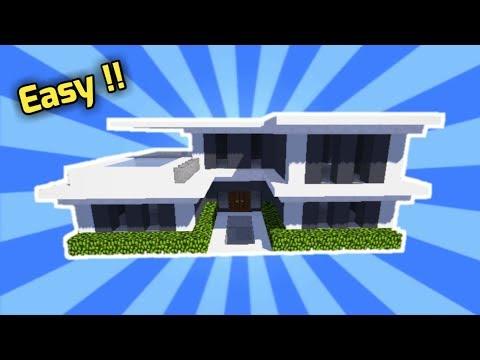 Minecraft Cara Membuat Rumah Modern Tutorial 1 By Izer Khal