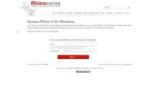 Obtaining a Rhino 5 License